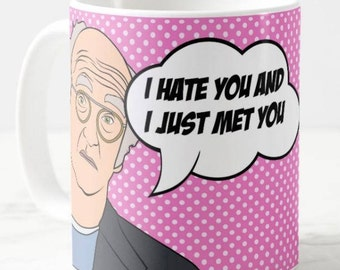 Larry David, Curb Your Enthusiasm, Inspired Coffee Mug Gift, HBO TV Pop Art Culture