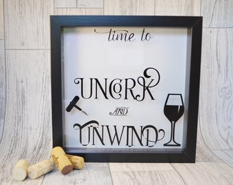 Wine Cork Holder, Wine Lovers Gift, Wine Cork Shadow Box, Shadow Box Frame,  Box Frame, Display Box, Wine Cork Drop Box,
