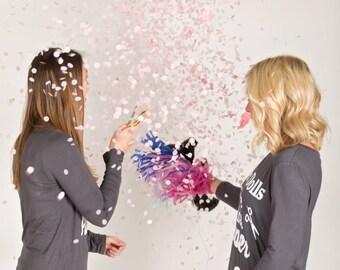 Gender Reveal Balloon- Confetti Balloon- 36 inch Black Balloon- Gender Reveal Confetti Balloon- Gender Reveal Party- Gender Reveal Decor