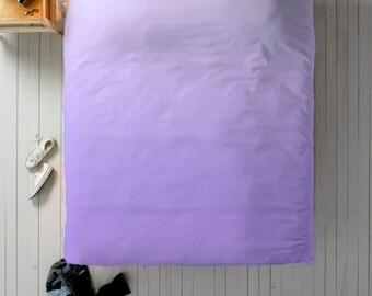 Lilac Ombre Duvet, Lilac Duvet Cover, Queen Duvet, King Duvet, Twin Duvet, Dip Dye Duvet, Purple Bedding, Lilac Bedroom Decor, Purple Bed