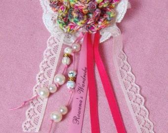 Corsage crochet rose