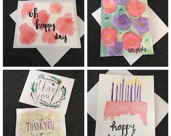 Watercolor Greeting Card Pack