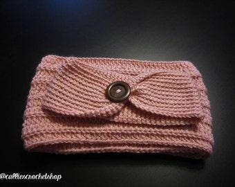 Pink Crochet Headband/Pink Infinity Scarf/Pink Crochet Infinity Scarf/Crochet Headband/Crochet Ear Warmer/Crochet Scarf/Infinity Scarf