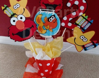 Sesame street, Elmo Birthday Party Decoration Centerpiece
