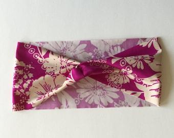 Active Yoga Headband - Pink Flower Patch