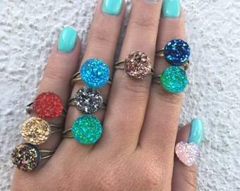 12mm Druzy Ring custom Druzy Ring