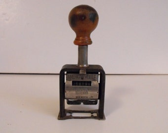 Antique American Numbering Machine Mod. 21 Stamper Patent 1908 American Visible    (839)