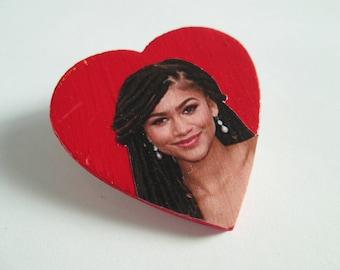 Zendaya Heart Pin