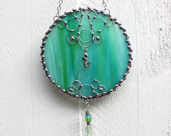 Mermaid Stained Glass Suncatcher Window Ornament