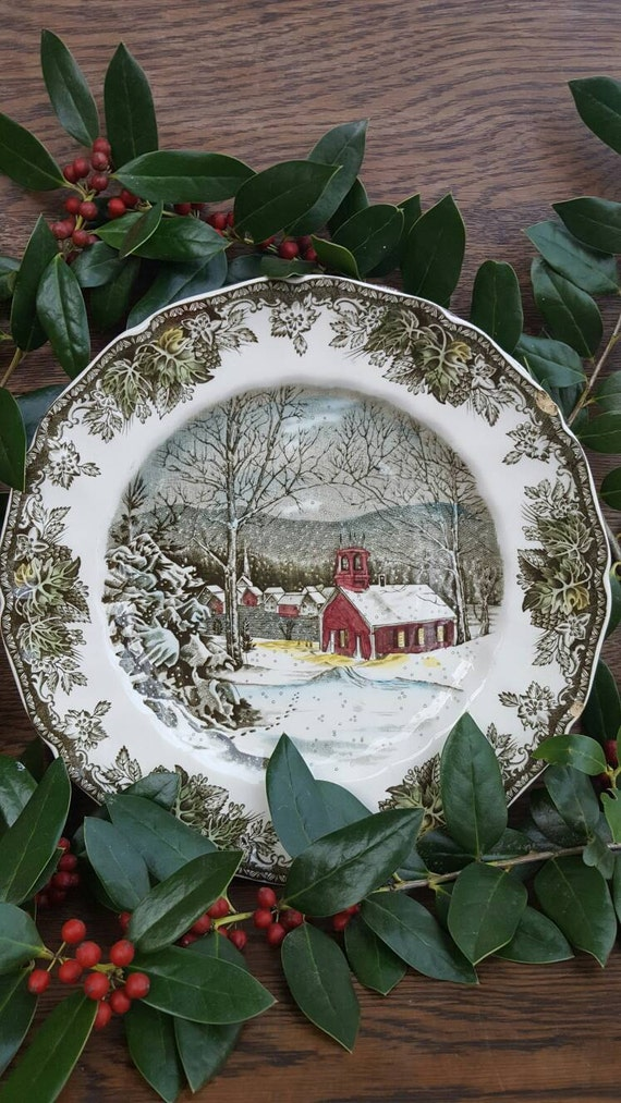 1950 39 S Christmas Decorations Dishes Friendly Village