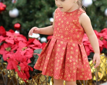 Girls Christmas dress - Christmas outfit for todder girl - Size 3 - Ready To Ship
