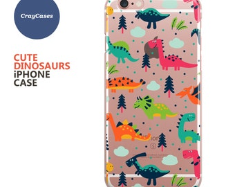 iPhone 7 Case, Cute Dinosaurs iPhone 6s Case, Dinosaurs iPhone 6 Case, Dinosaurs iPhone 6/s Plus Case (Shipped From UK)