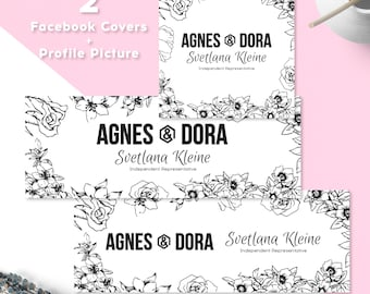 Agnes and Dora Facebook Set, Free Personalized, x2 Facebook Covers, Profile Picture, Cover Images