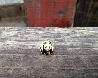 Panda Pin, Vintage Panda Pin, Panda Jewelery
