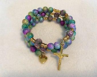 Handcrafted Wrap Rosary Bracelets ~ Catholic Gift