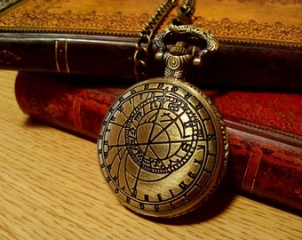 Doctor Who inspired vintage pocket watch