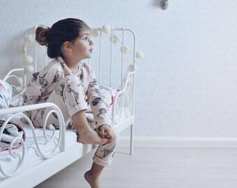 Girls pajamas, Girls sleepwear, cotton nightwear, Pajamas party, Girls pajama set, Summer pajamas, soft pajamas