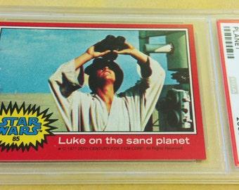 Topps Star Wars #85 Luke Skywalker (PSA 8 NM-MT 1977)