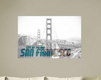 San Francisco Cityscape | San Francisco Decor | Urban Art | San Francisco Art | San Francisco Art Print | San Francisco Art | San Francisco