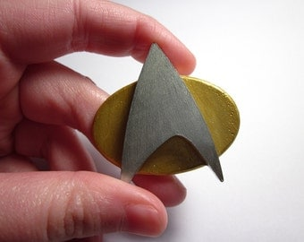 Star Trek: The Next Generation Combadge Cosplay Prop (Resin)