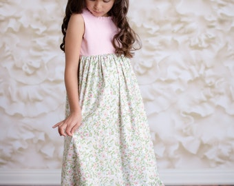 Girls maxi dress - Etsy