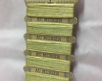 Silk thread on original card -Paris (C)