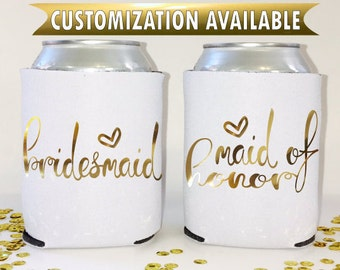 Bachelorette party favors- Personalized Can Coolers- Customized wedding Favors- Bachelorette gifts- Party Supplies Bacherlorette can cooler
