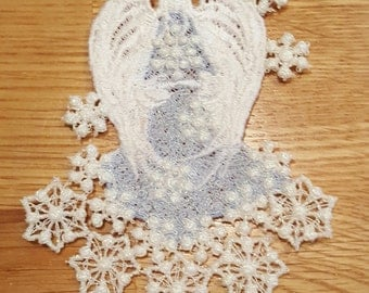 Angel Free Standing Lace Snow Angel