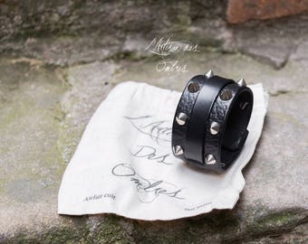 """Leather wristband """"Marduk"""""""