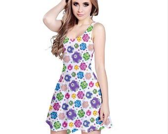 Rolling Dress - Katamari Dress Katamari Cousins Dress Katamari Damacy Skater Dress Plus Size Dress Video Game Dress Ichigo Dipp