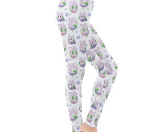 Goomy Leggings - Pokemon Leggings Cosplay Leggings Comicon Leggings Goodra Leggings Dragon Pokemon Evolutions Sliggoo Leggings