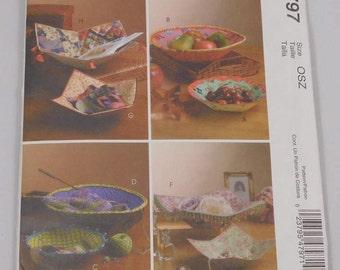 Fabric Bowl Craft Pattern, McCalls M4797