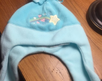 Fleece hat with shooting star design  - FREE SHIPPING