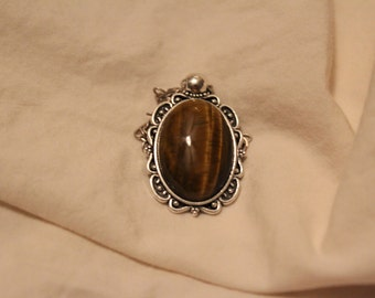 Golden Tiger Eye Pendant Necklace