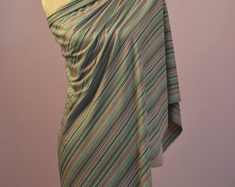 1960s Striped vintage dress making fabric.  Jersey fabric 1.25M X 158 CM