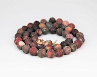 Matte Picasso Jasper Gemstone Round Loose beads 6/8/10mm