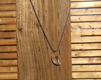 Swarovski Half Moon Necklace