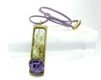 Necklace/Pendant: Purple Rose