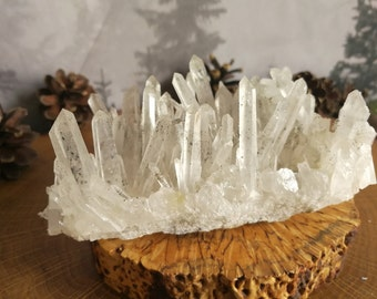 Large Striking Formation of Clear Quartz Crystals from Bulgaria