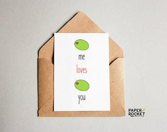 Olive Me Loves Olive You - All of Me - Valentine Card - Love Card - Instant Download