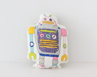 Colorful Robot Pillow