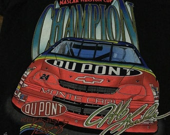 Vintage Jeff Gordon Shirt Nascar (Size M ) Free Shipping 1995 nascar winston cup series racing shirt ford shirt