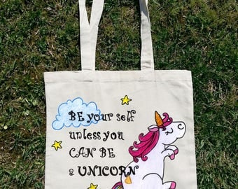 Always Be Yourself Unless You Can Be A Unicorn, Unicorn Bag, Summer Bag, Beach Bag, Tote Bag, Shopping Bag, Shoulder Bag, Woman Bag