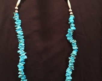 SALE**20% OFF**Stabilized Turquoise Nugget Necklace