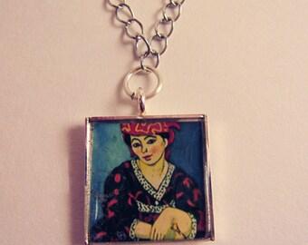 Matisse Woman Square Pendant Necklace
