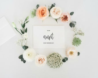 To My Aunt On My Wedding Day Card, To My Aunt Card, Wedding Card Thank You, Wedding Greeting Card, Digital Download, Wedding Day, PDF
