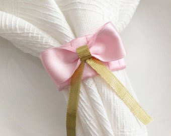 Pink and Gold Decor, Pink and Gold Napkin Rings, Pink and Gold Birthday Decor, Pink Baby Shower Decor, Table Decor, Wedding Napkin Rings