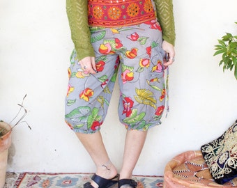 Vintage Hippy Embroidered Cropped Trousers