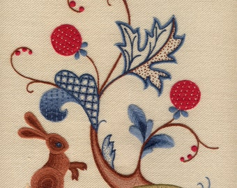 "Crewelwork embroidery kit ""A Rabbit Summer"""