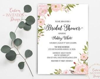 Bridal shower invitation, bridal shower invites, bridal shower invitation template, Bridal Shower Printable - US_BI0301c